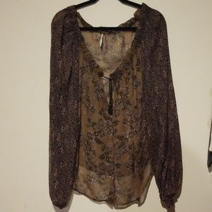 Free People Small Sheer oversized blouse